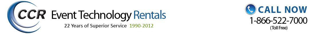CCR Event Technology Rentals - Nationwide PC's, Laptops, and Technology Equipment Rentals